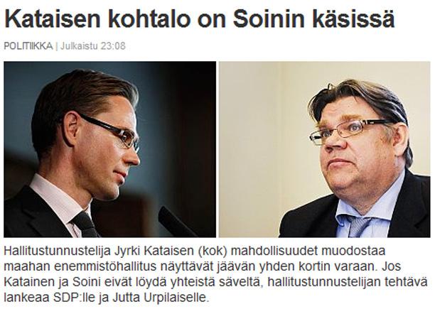 Kelle kätes on Soome lähitulevik?