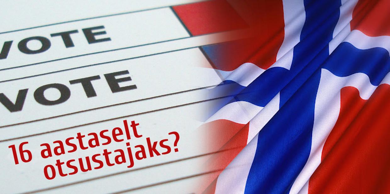 Norra edukas katsetus 16-17-aastaste valimisõigusega